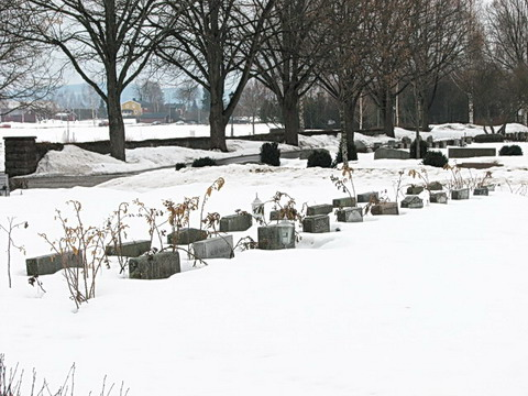 snow covered cemetary April 1 2010
